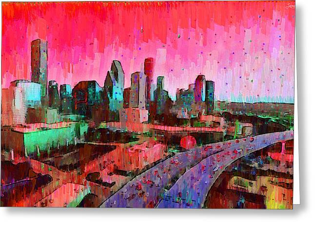 Houston Skyline 33 - Da Greeting Card