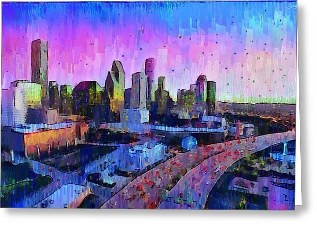 Houston Skyline 34 - Da Greeting Card
