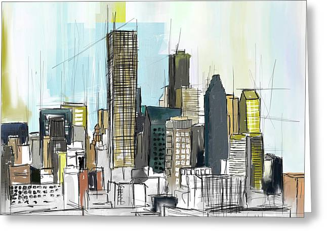 Houston Skyline 652 1 Greeting Card