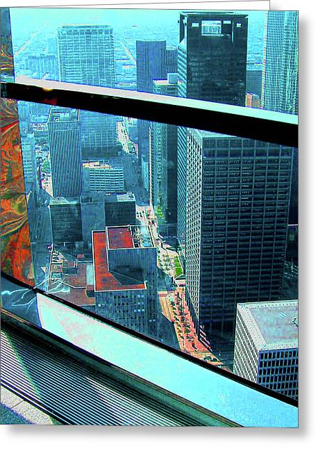 Houston South From Chase Tower Greeting Card