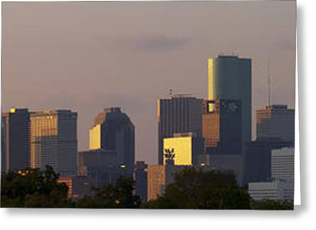 Houston Sunset Greeting Card by Joshua House