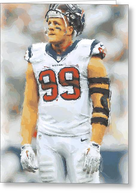 Houston Texans Jj Watt 4 Greeting Card