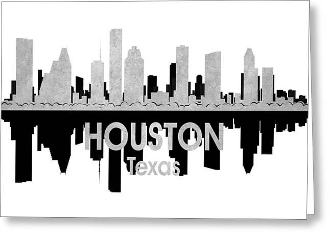 Houston Tx 4 Squared Greeting Card