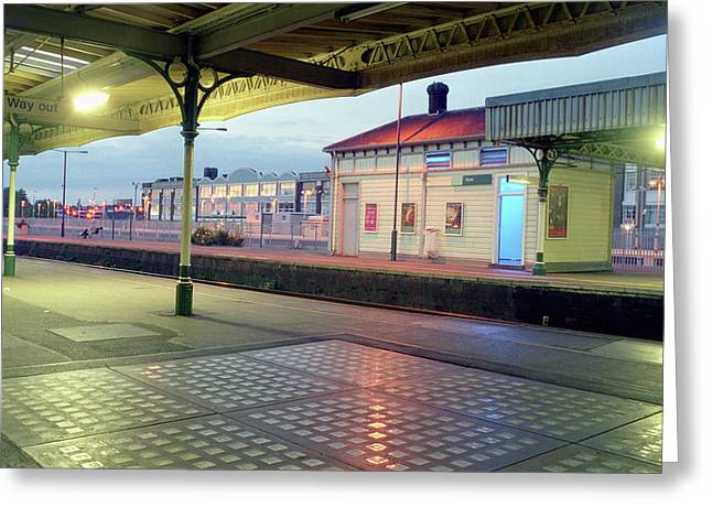 Hove Station Greeting Card by Nigel Chaloner