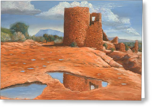 Hovenweep Reflection Greeting Card by Jerry McElroy