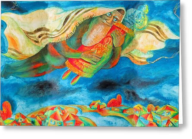 Simchat Torah Greeting Card by Leon Zernitsky