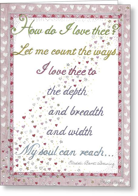 How Do I Love Thee? Greeting Card