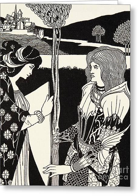 How Morgan Le Fay Gave A Shield To Sir Tristran Greeting Card