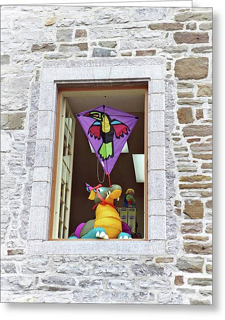 Greeting Card featuring the photograph How Much Is That Dragon In The Window by John Schneider