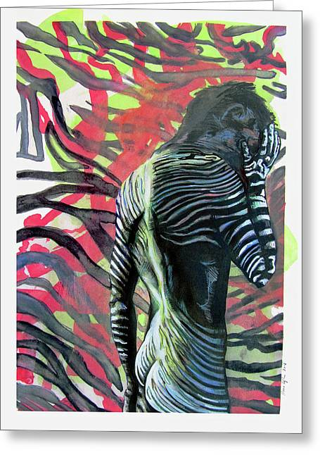 Rising From Ashes Zebra Boy Greeting Card