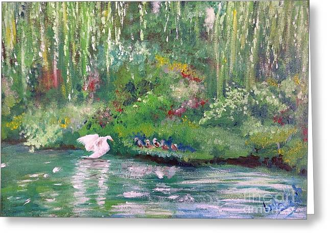 How To Swan Greeting Card