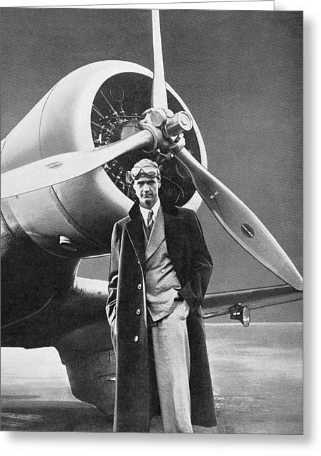 Howard Hughes, Us Aviation Pioneer Greeting Card by Science, Industry & Business Librarynew York Public Library