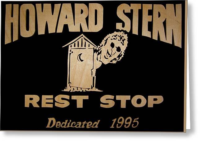 Howard Stern Rest Stop Greeting Card by Michael Bergman