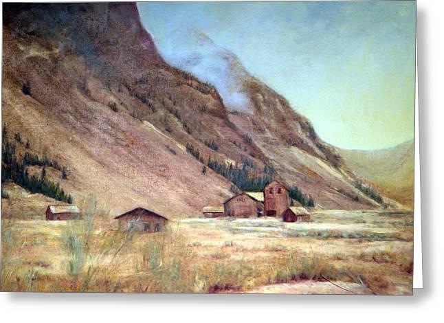 Howardsville Colorado Greeting Card by Evelyne Boynton Grierson