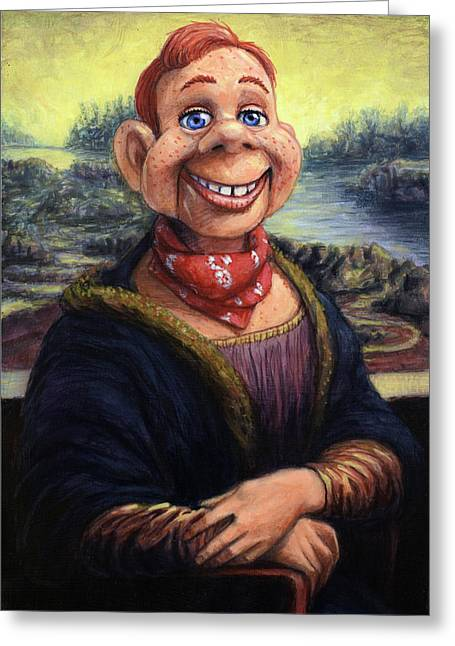 Howdy Doovinci Greeting Card by James W Johnson