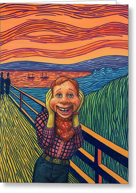 Howdy's Happy Scream Greeting Card