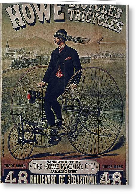 Howe Bicycles Tricycles Vintage Cycle Poster Greeting Card