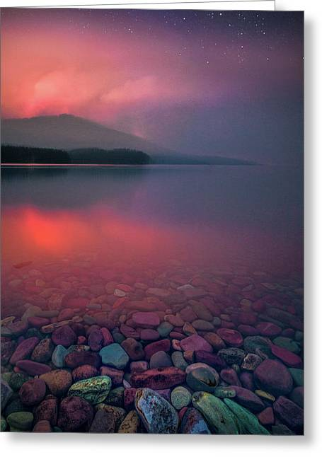 Howe Ridge Fire / Lake Mcdonald 2018 / Glacier National Park Greeting Card
