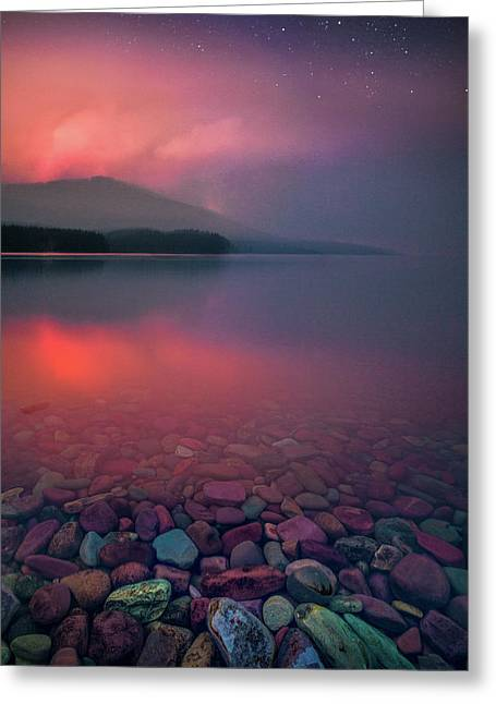 Howe Ridge Fire / Lake Mcdonald 2018 / Glacier National Park Greeting Card