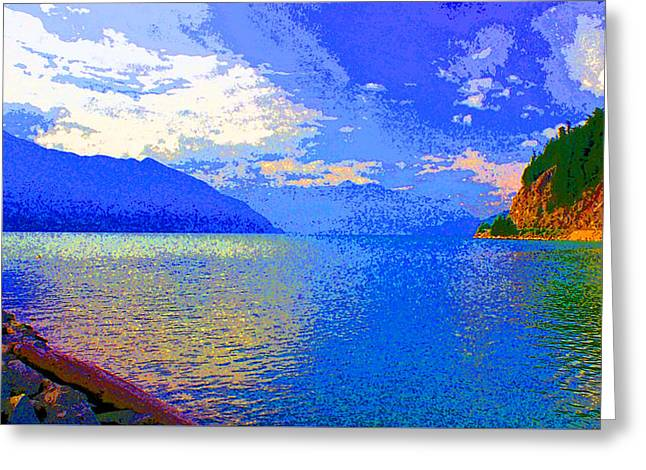 Howe Sound Near Vancouver Image Greeting Card by Paul Price