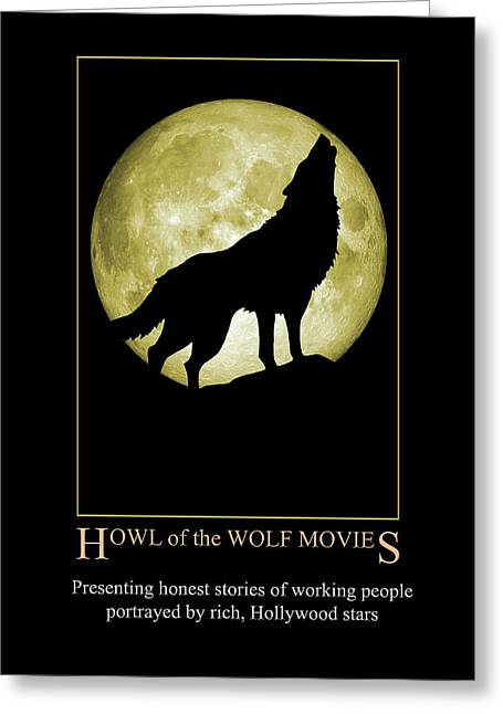 Howl Of The Wolf Movies Greeting Card
