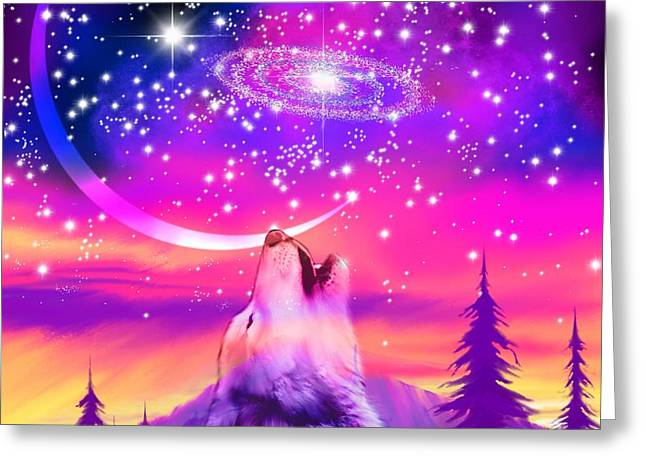 Howling At The Universe Greeting Card by Nick Gustafson
