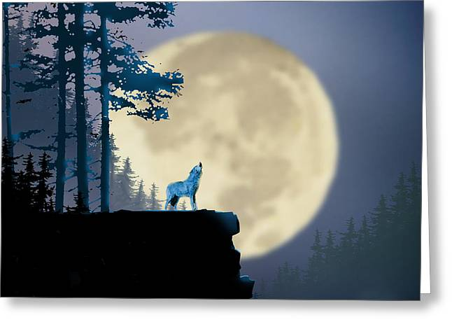 Howling Coyote Greeting Card