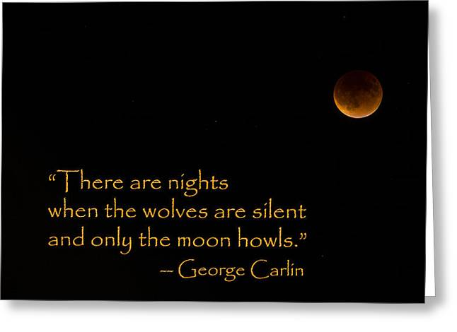Howling Moon Greeting Card by Stephen Stookey