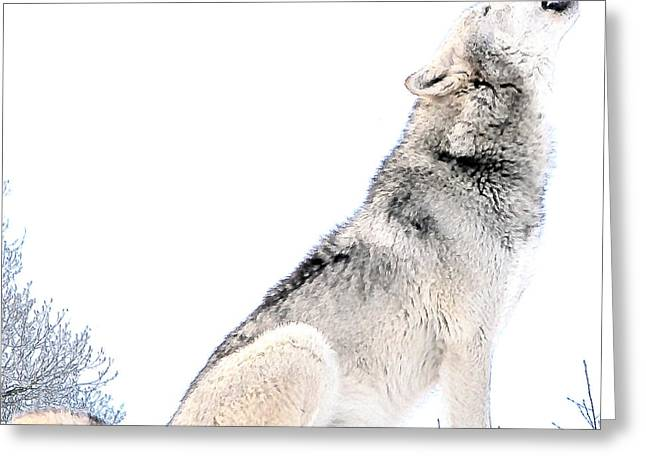 Howling Wolf 1 Greeting Card