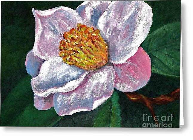 Hoyt Flower Oil 2 Greeting Card by Emily Michaud