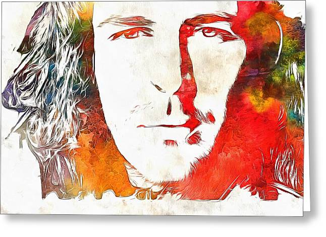 Hozier Watercolor Greeting Card by Dan Sproul