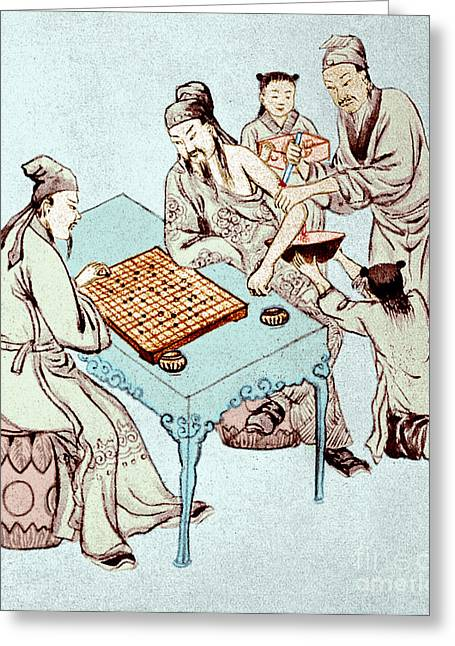 Hua Tuo Operating On Juan Kung, 2nd Greeting Card by Science Source