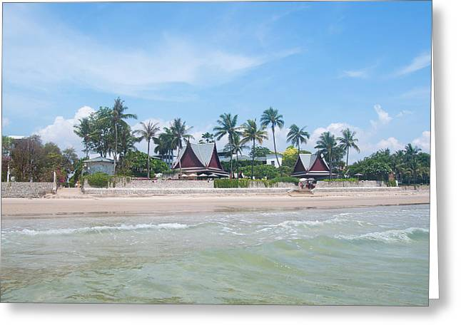 Huahin Beach View Greeting Card