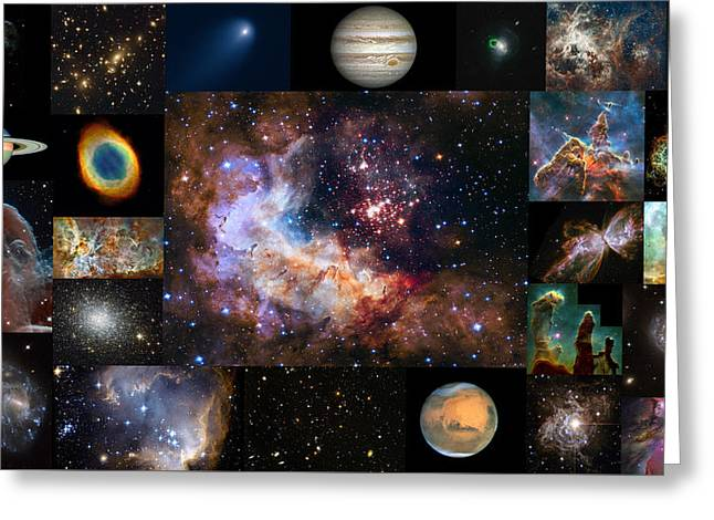 Hubble 25 - A Special 25th Anniversary Montage 1 Greeting Card