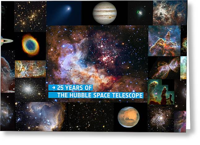 Hubble 25 - A Special 25th Anniversary Montage 2 Greeting Card