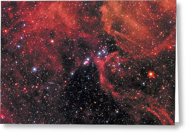 Hubble Captures Wide View Of Supernova 1987a Greeting Card