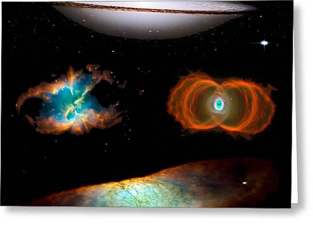 Hubble Greatest Hits Greeting Card by Tony Rubino