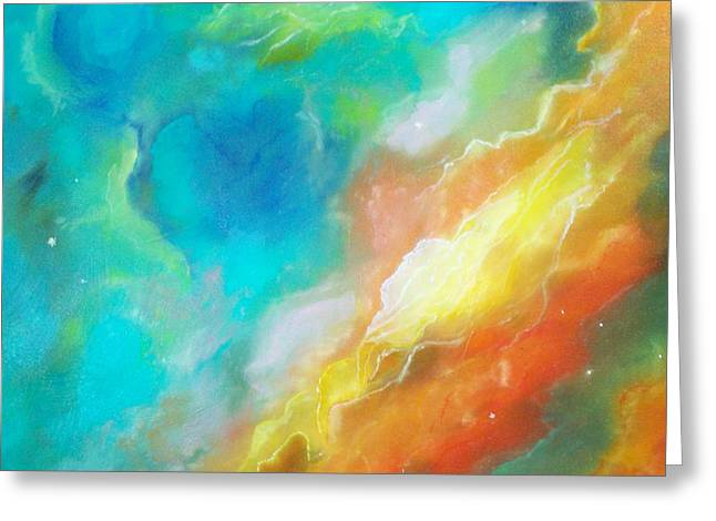 Hubble Swan Nebula The Perfect Storm Greeting Card by Lynda McDonald