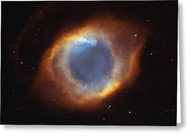 Nebula Images Greeting Cards - Hubble Telescope Image Of The Helix Greeting Card by Nasa