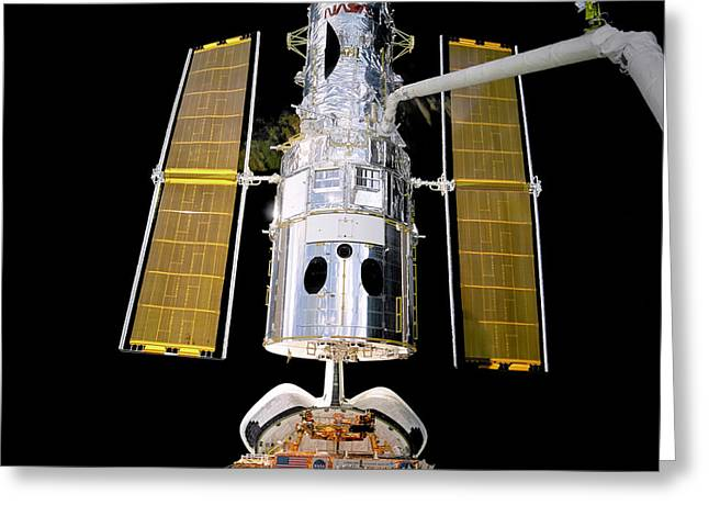 Hubble Telescope Redeployment Greeting Card by Jennifer Rondinelli Reilly - Fine Art Photography