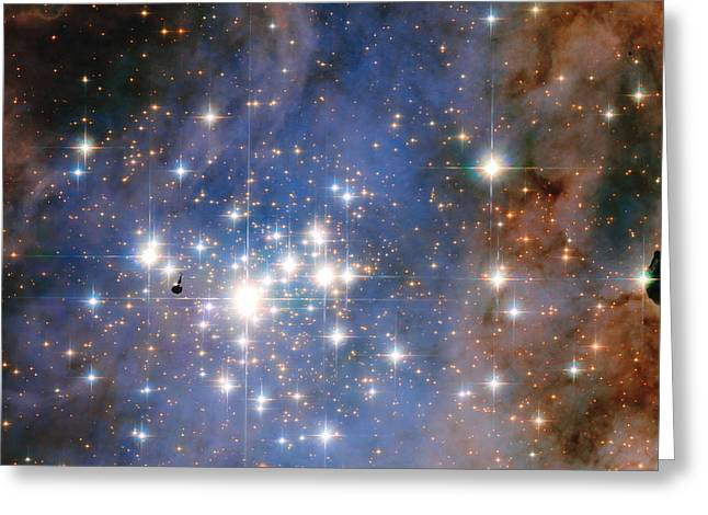 Hubble Unveils A Tapestry Of Dazzling Diamond-like Stars Greeting Card