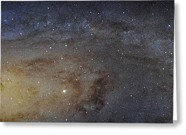 Hubble's High-definition Panoramic View Of The Andromeda Galaxy Greeting Card by Adam Romanowicz