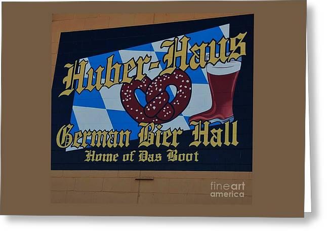 Huber Haus Mural, Omaha Greeting Card by Poet's Eye
