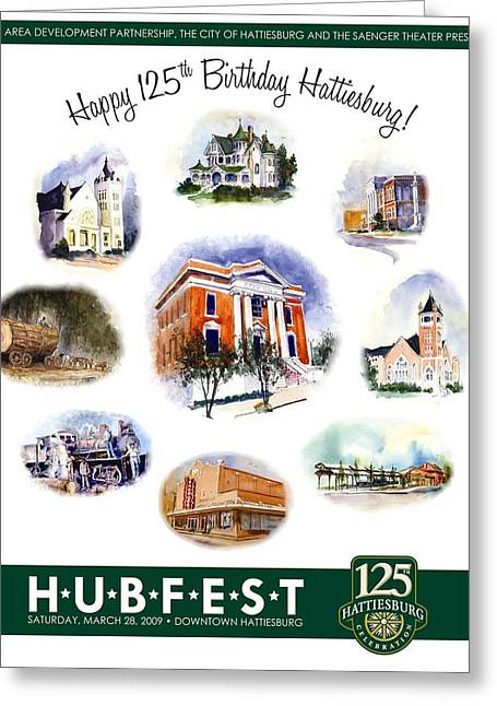 Hubfest Poster Greeting Card