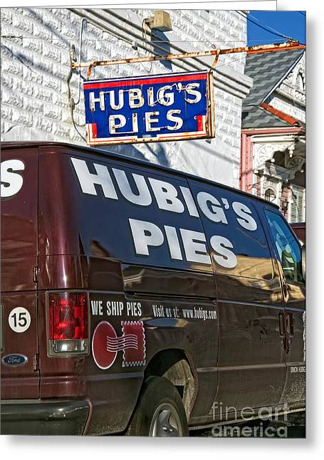 Hubig's Pies 2 New Orleans Greeting Card
