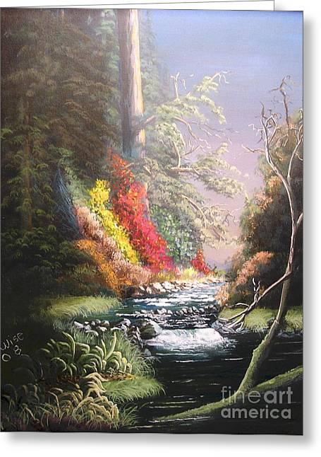 Huckleberry Creek Greeting Card by John Wise