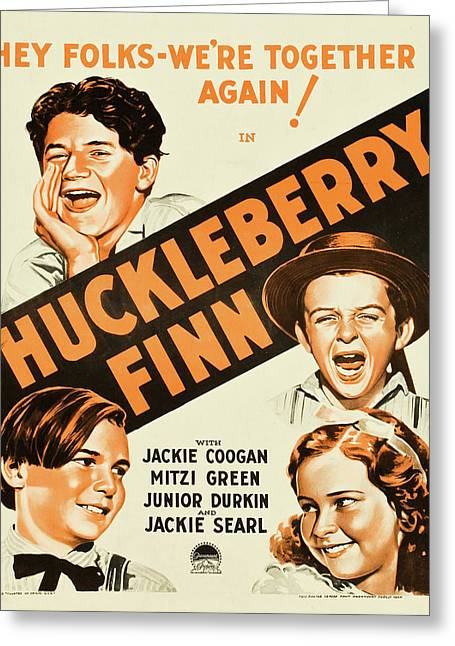 Huckleberry Finn 1931 Greeting Card