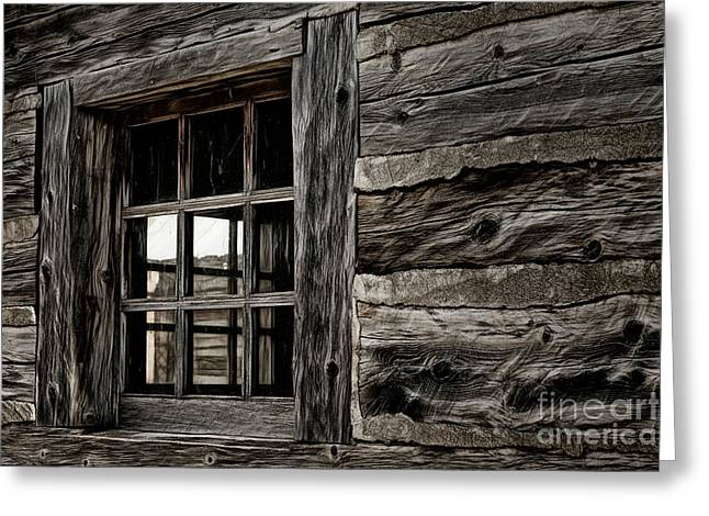 Greeting Card featuring the photograph Hudson Bay Fort Window by Brad Allen Fine Art