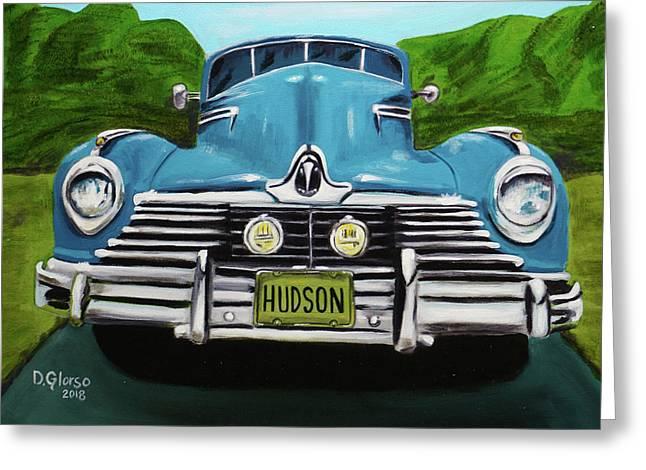 Hudson Blue Greeting Card