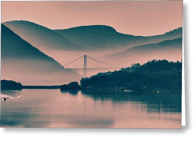 Hudson Highlands Fog Greeting Card